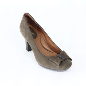 Clarks Suede Pumps Womens Heels New Shoes